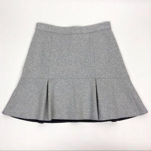 Madewell | Bonded Fit Flare Fluted Gray Skirt